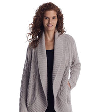 Load image into Gallery viewer, Barefoot Dreams Cable Shaw Cardi