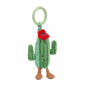 Perfect gift for your Plant Lady Friends, Gorgeous in green cord and velvety patches, with a scarlet flower and squishy arms, this smiley succulent's setting the pace!