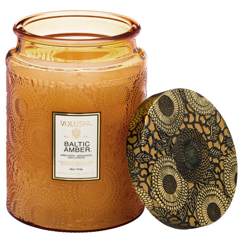 BALTIC AMBER LARGE JAR CANDLE from VOLUSPA - Amber Glass
