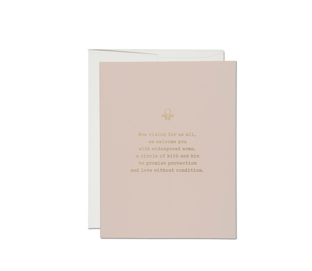 Widespread Arms Greeting Card