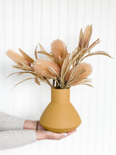 Load image into Gallery viewer, Banksia + Protea Artificial Stems in Mustard Vase