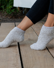 Load image into Gallery viewer, CozyChic Barefoot Dreams Oyster Multi keeping toes toasty warm