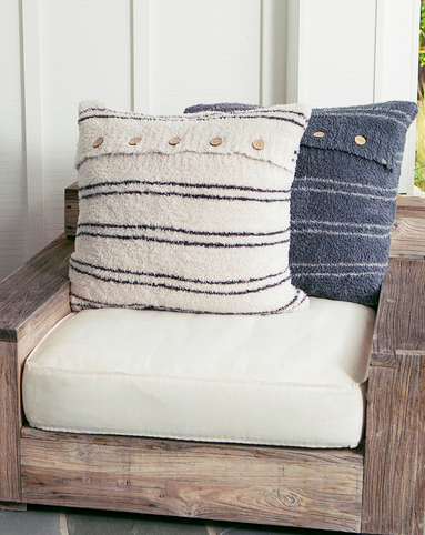 Barefoot Dreams Cozy Chic Striped Pillow