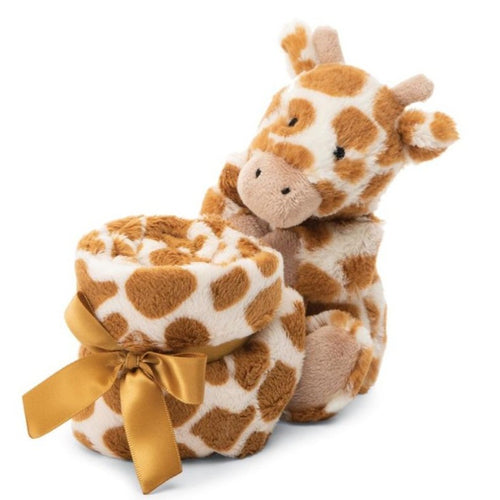 Rolled up tight and presented with a ribbon round it, Bashful Giraffe Soother is the perfect gift for any newborn arrival.