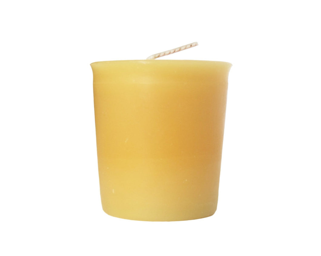 Made of only 100% beeswax and 100% cotton wick, our beeswax votives burn cleanly, day and night, without any smoke.