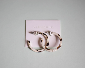 Coco Cream Tortoise Hoops