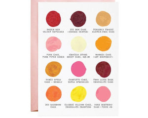 Birthday Cake Palette Greeting Card