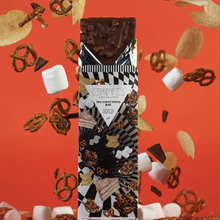 Load image into Gallery viewer, Compartes Everything Chocolate bar sprinkled with pretzels, chips, and marshmellows