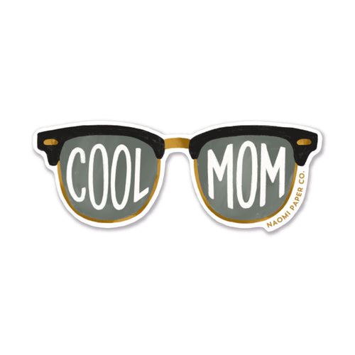 A sticker of rayban glasses that say