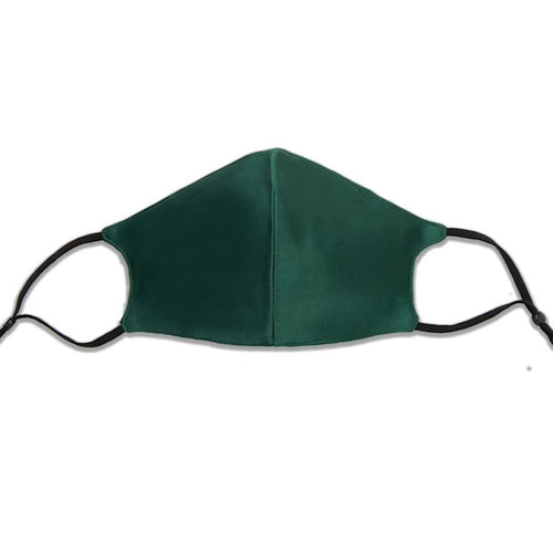 Emerald/ Hunter Green 100% Mulberry Silk Face Mask