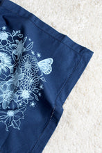 Load image into Gallery viewer, Navy Dream Garden Cloth Napkin Set