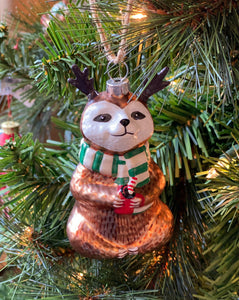 Festive Sloth Ornament