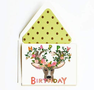 Happy Birthday Deer! brings some whimsical wonder to birthday wishes.