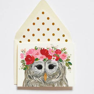 Lady Owl Card