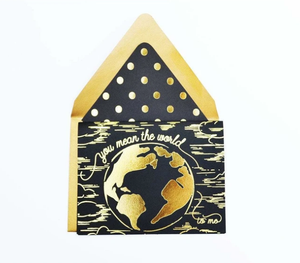 "First Snow"" You mean the World"" Gold Foil Card"