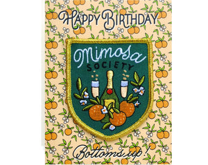 Patch Mimosa Birthday Greeting Card