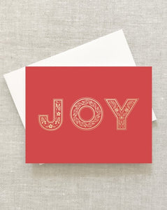 Ornate Joy Greeting Card