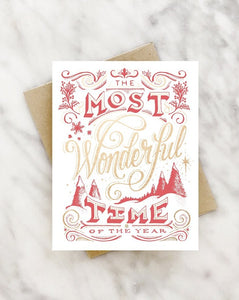 The Most Wonderful Time Holiday Card