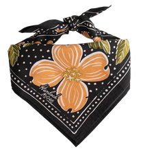 Load image into Gallery viewer, Amy Hemlock peach Floral Bandana  tied