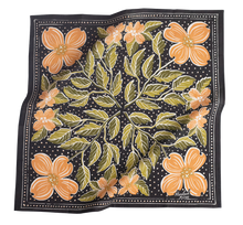 Load image into Gallery viewer, Amy Hemlock peach Floral Bandana Flat Lay