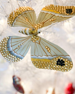 Jeweled Moth Ornament