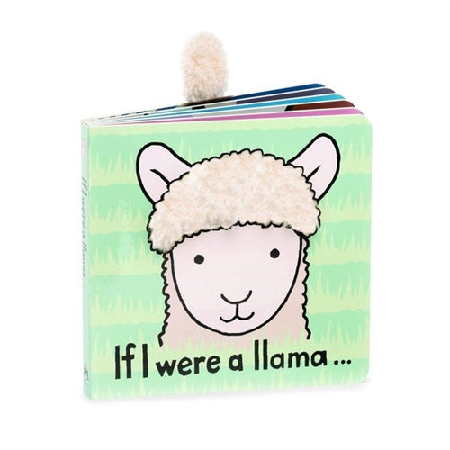 Take a trip to the mountains with Jellycat's If I Were a Llama Book! A gorgeous board book with grabbable pages and fun feely panels, it's llama-llovely!  From fluffy fleeces to swishy lashes, it's a trot into the world of make-believe!