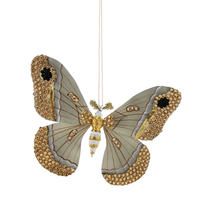 Load image into Gallery viewer, Jeweled Moth Ornament