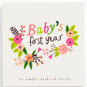 Little Artist Memory Book decorated with blooming florals