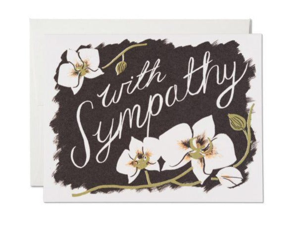 Sympathy Orchids Greeting Card