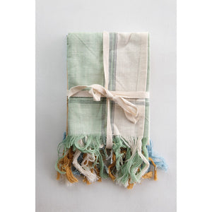 Natural Ribbon Wraps towels