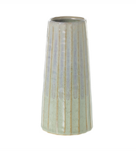 Load image into Gallery viewer, The Palm Vase is a stoneware piece in a stunning two-toned finish, with green reactive glaze layered with a purple glaze for a soft yet modern finish.