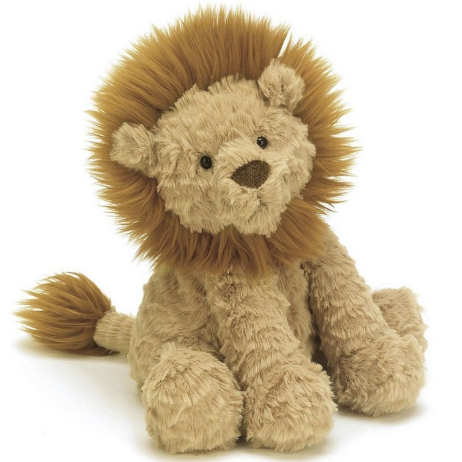 King of the cuddles! This squidgy-soft lion is silky and sweet, and though he's meant to be