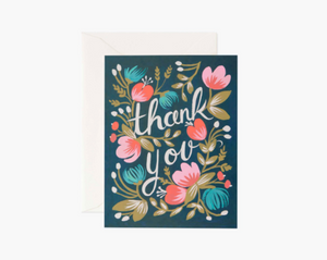 Thank you Midnight Garden Greeting Card