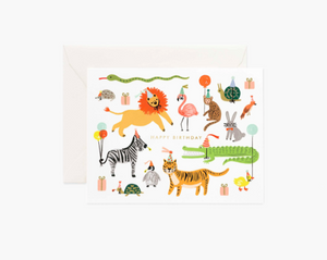 Party Animals Birthday Greeting Card