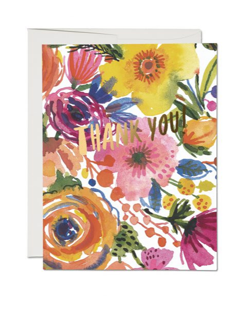 Romantic Rose Thank You Card