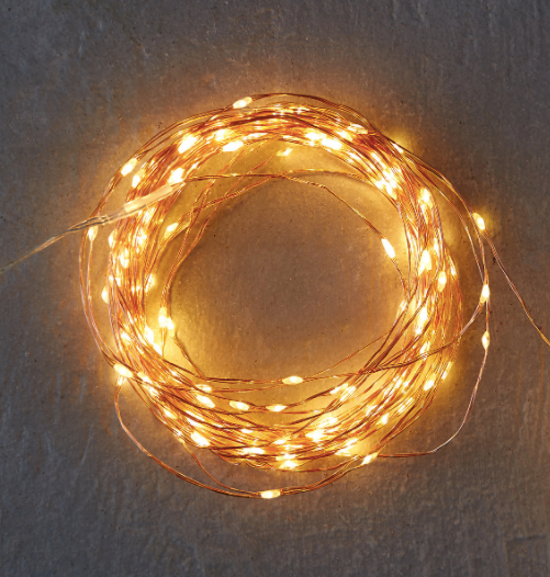Copper Twine LED String Lights