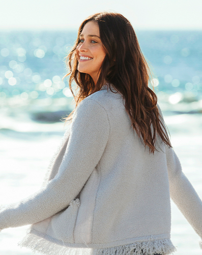 Make your work and social life as cozy-comfy as your home life in this soft jacket.