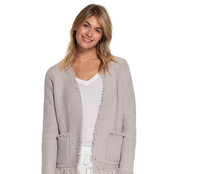 Load image into Gallery viewer, Barefoot Dreams Fringed Jacket