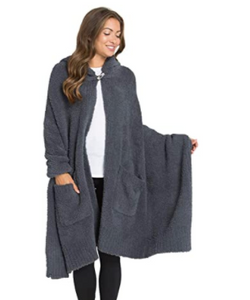 Barefoot Dreams CozyChic Hooded Cape
