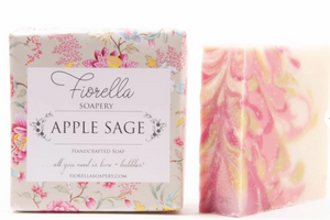 Handmade, all natural soap that smells like  Apple and sage are blended with a hint of pineapple and fresh coconut water to create a beautiful fall fragrance.