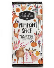 Load image into Gallery viewer,  Dip into Fall with this milk chocolate truffle bar spiced with cinnamon, nutmeg, ginger and all spice!