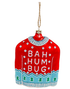 Bah Hum Bug Sweater Ornaments