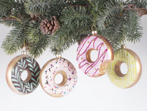 4 Piece Assorted Donut Ornaments