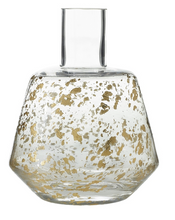 Load image into Gallery viewer, White Vase has a narrow bottle-neck and stamped design on a modern silhouette.