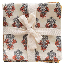 Load image into Gallery viewer, Set of 4 cotton napkins tied with cotton bow