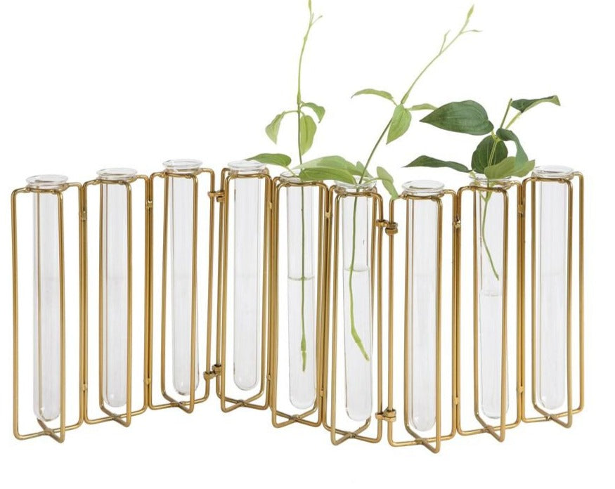 Gold Test Tube Vase set