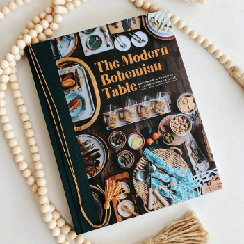 The Modern Bohemian Table Book Cover with eclectic table scape