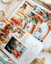 Load image into Gallery viewer, Modern Bohemian Table Book Holiday table scape ideas