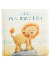 Load image into Gallery viewer, In 'The Very Brave Lion,' a little cub talks to his daddy about growing up. He learns it's OK to be scared sometimes, and that kindness and love are all that matters. A poetry fable with plenty of heart and beautifully sweet illustrations.