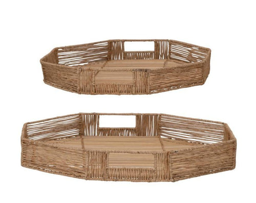 Bae Bamboo Trays made for styling side tables + adding texture to any shelf
